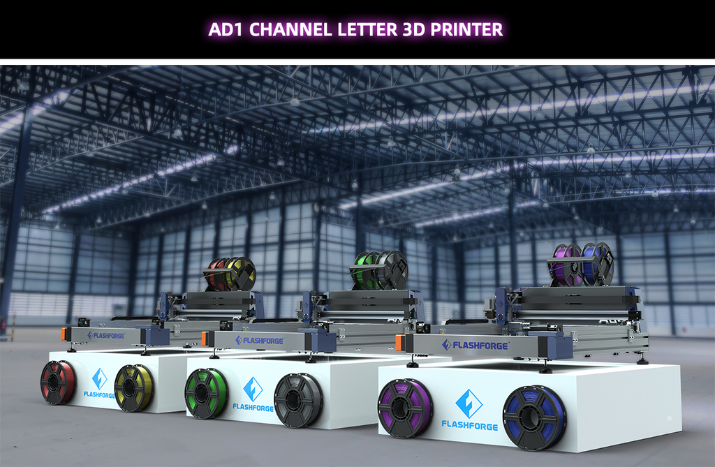 Flashforge AD1 Channel Letter 3D Printer Demo Unit - Digitmakers.ca providing 3d printers, 3d scanners, 3d filaments, 3d printing material , 3d resin , 3d parts , 3d printing services