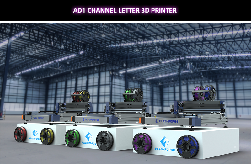 Flashforge AD1 Channel Letter 3D Printer - Digitmakers.ca providing 3d printers, 3d scanners, 3d filaments, 3d printing material , 3d resin , 3d parts , 3d printing services