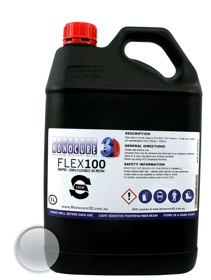 Monocure 3D Rapid Flex100 - Clear 5L