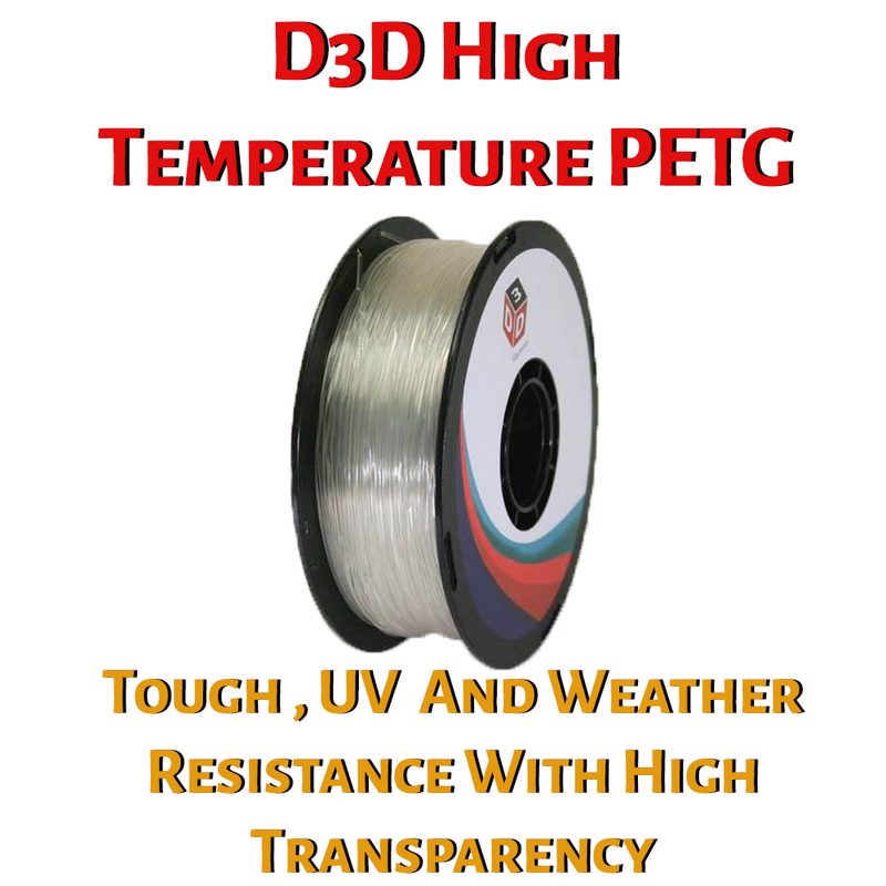D3D High Temperature PETG 1.75 mm 1kg Spool - Digitmakers.ca providing 3d printers, 3d scanners, 3d filaments, 3d printing material , 3d resin , 3d parts , 3d printing services
