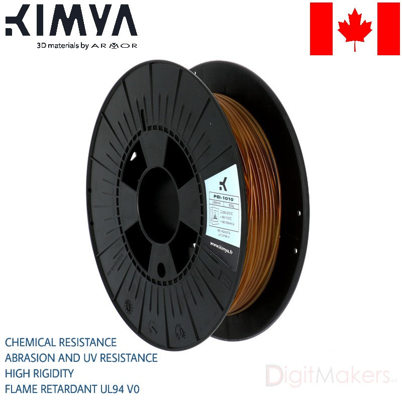 PEI-1010 Kimya 3D Filament - Digitmakers.ca providing 3d printers, 3d scanners, 3d filaments, 3d printing material , 3d resin , 3d parts , 3d printing services
