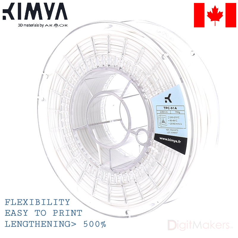 TPC-91A Kimya 3D filament Various Colors - Digitmakers.ca