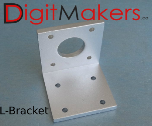 Stepper Motor mount / aluminium Bracket for Nema 17 - Digitmakers.ca providing 3d printers, 3d scanners, 3d filaments, 3d printing material , 3d resin , 3d parts , 3d printing services