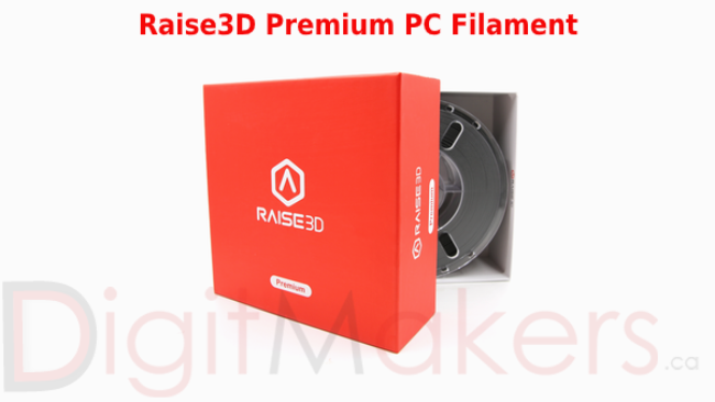 Raise3D Premium Polycarbonate Filament 1.75mm 1kg Spool Various Colors - Digitmakers.ca providing 3d printers, 3d scanners, 3d filaments, 3d printing material , 3d resin , 3d parts , 3d printing services