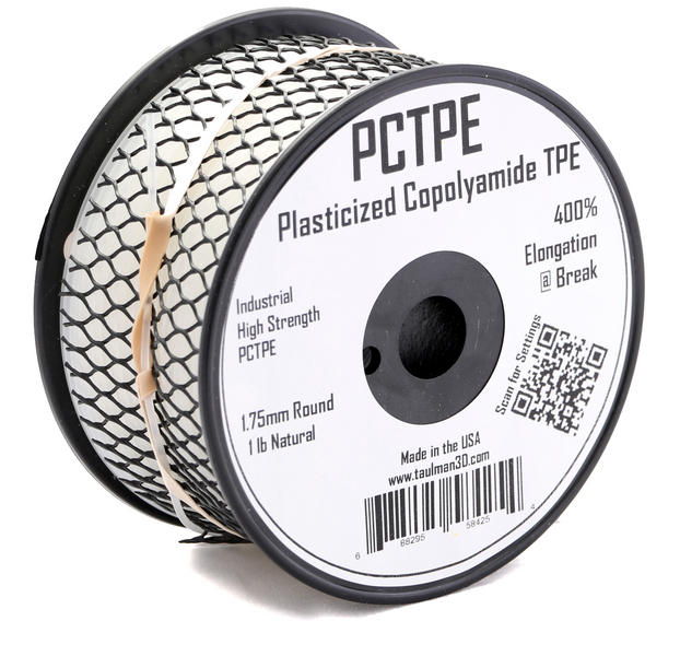 Taulman PCTPE Filament - NATURAL-1.75mm - Digitmakers.ca providing 3d printers, 3d scanners, 3d filaments, 3d printing material , 3d resin , 3d parts , 3d printing services