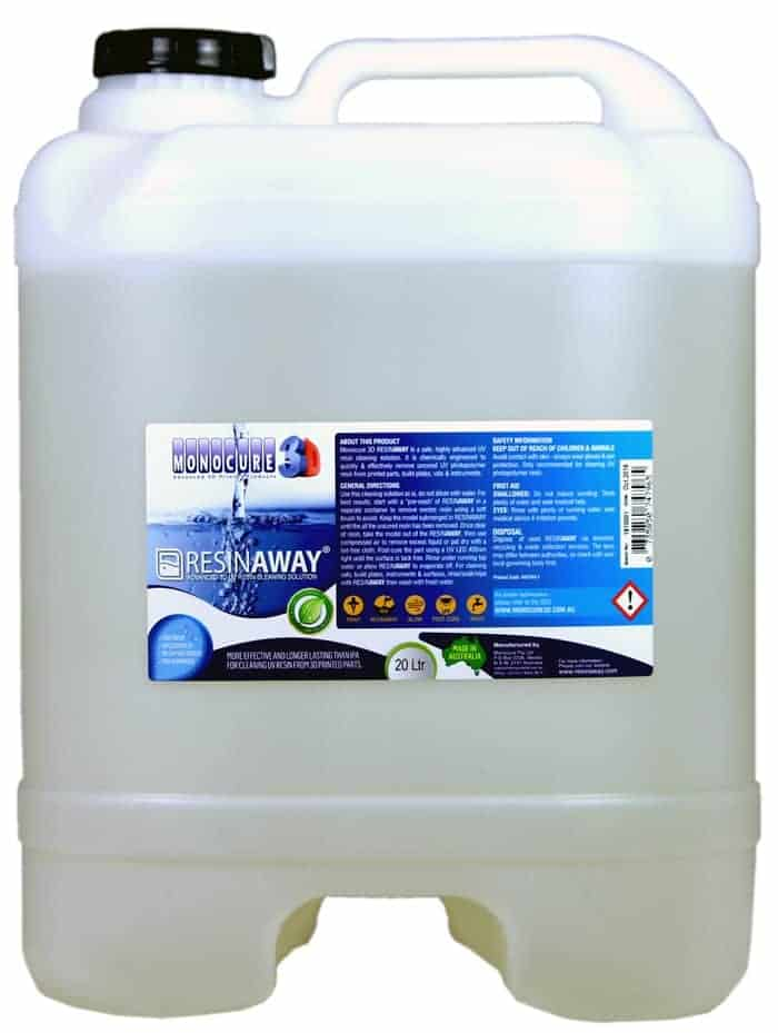 RESINAWAY - Monocure Advanced 3D UV Resin Cleaning Solution - 20L