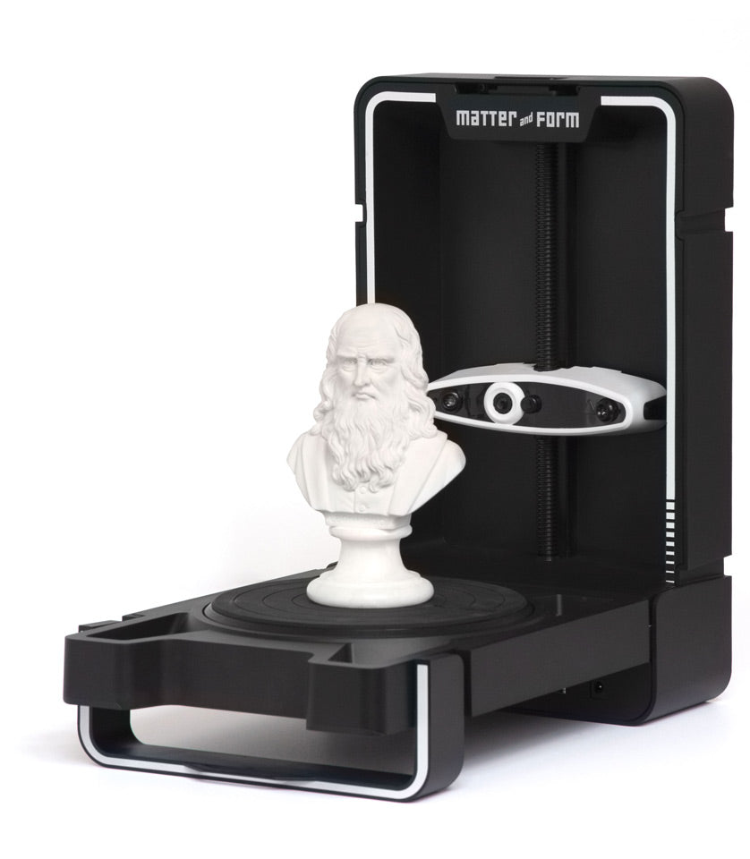Matter and Form 3D Scanner V2 +Quickscan - Digitmakers.ca providing 3d printers, 3d scanners, 3d filaments, 3d printing material , 3d resin , 3d parts , 3d printing services