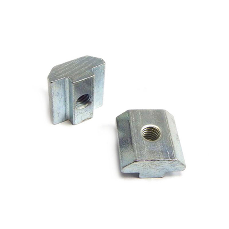 Sliding T Nuts x 10 Pieces - Zinc Plated -Various Size