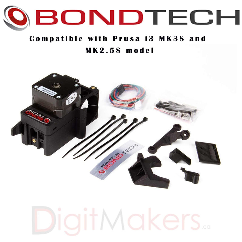 BondTech Prusa I3 MK3S Extruder Upgrade Kit - Digitmakers.ca providing 3d printers, 3d scanners, 3d filaments, 3d printing material , 3d resin , 3d parts , 3d printing services