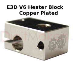 E3D V6 Plated Copper Heater Block - Digitmakers.ca providing 3d printers, 3d scanners, 3d filaments, 3d printing material , 3d resin , 3d parts , 3d printing services