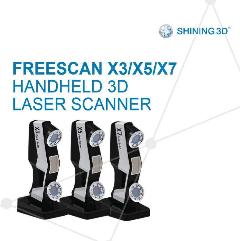 FREESCAN X3/X5/X7 Handheld Laser 3D Scanner - Digitmakers.ca providing 3d printers, 3d scanners, 3d filaments, 3d printing material , 3d resin , 3d parts , 3d printing services