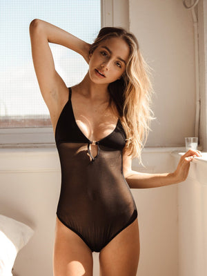 Handmade black bodysuit. Free shipping and easy returns