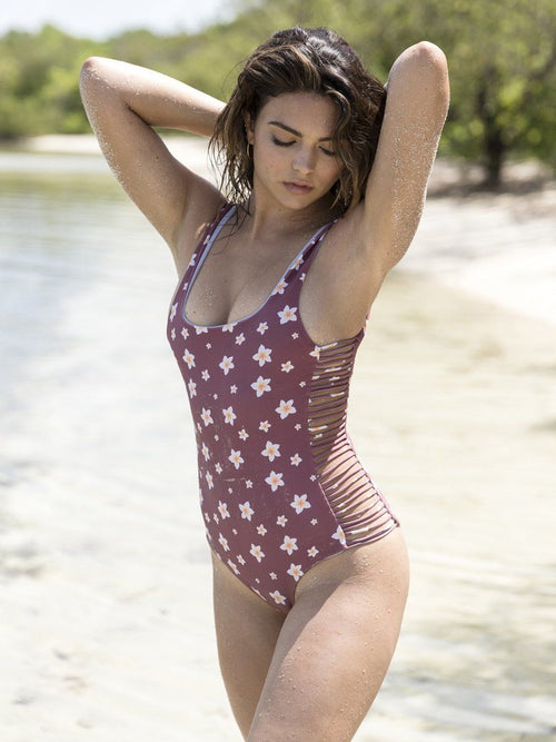 Low scoop one piece bikini. Free shipping and easy returns
