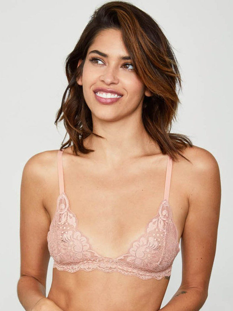 Hot as Hell bralette in copper rose. Free shipping and easy returns