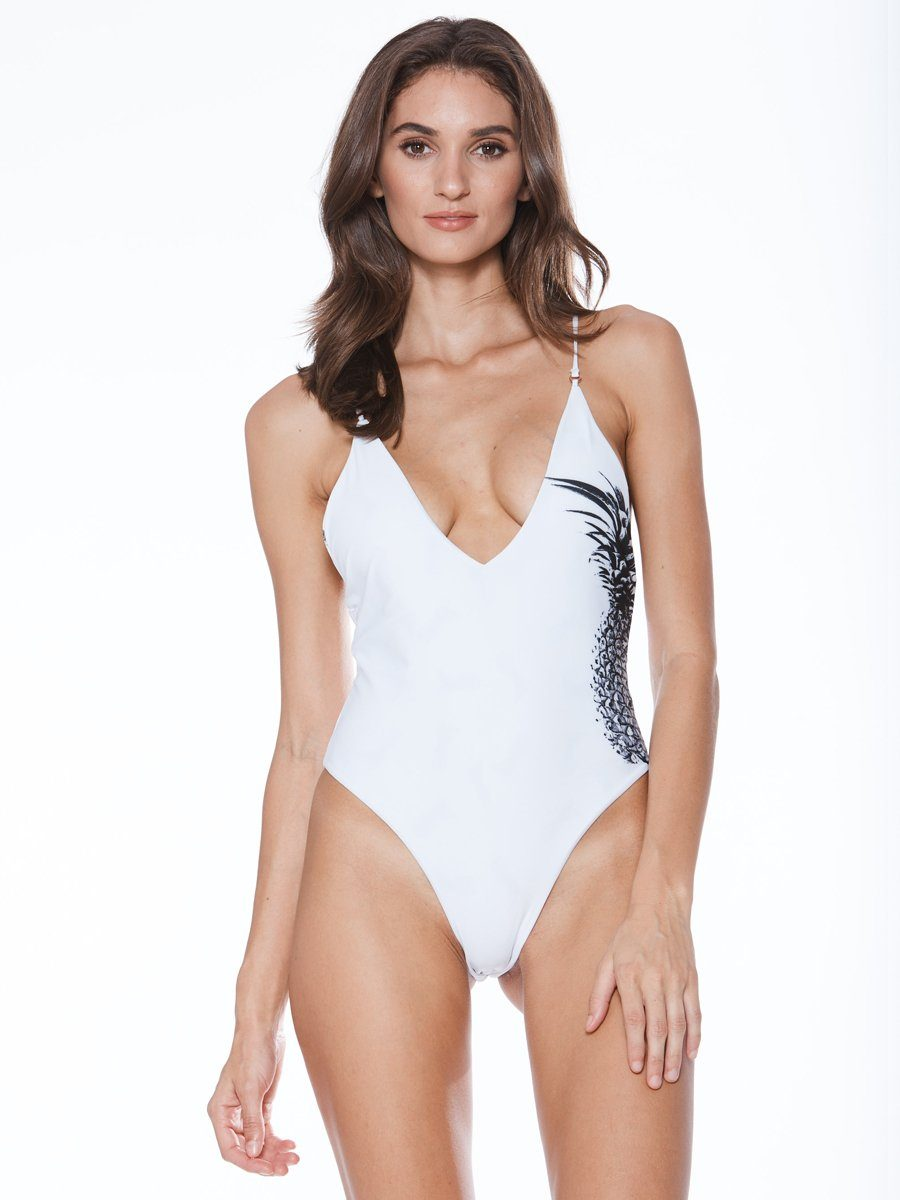 Shop the Meggie one piece from Mary Grace Swim at Crispy Citron. You will love this reversible one piece. Free shipping and easy returns