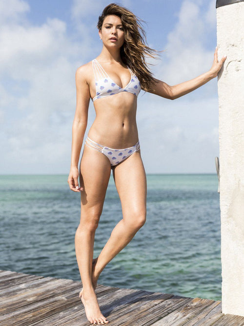 Minimal coverage bikini bottom with multi straps on the sides. Free shipping and easy returns