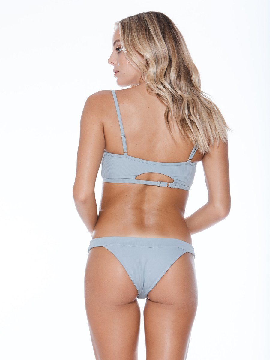 Full coverage bikini bottom with thick bands and a low cut. Bubblegum rib color. Free shipping and easy returns when you shop at Crispy Citron