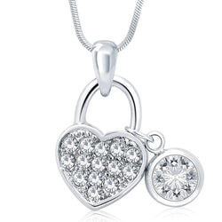 Paris Heart Lock Pendant with Chain by Moon Essentials