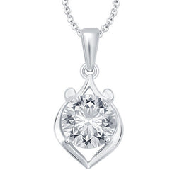 Milan Heart Solitaire Pendant with Chain