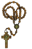 Pack of 3 pcs. Mens Saint Benedict Wood Rosary