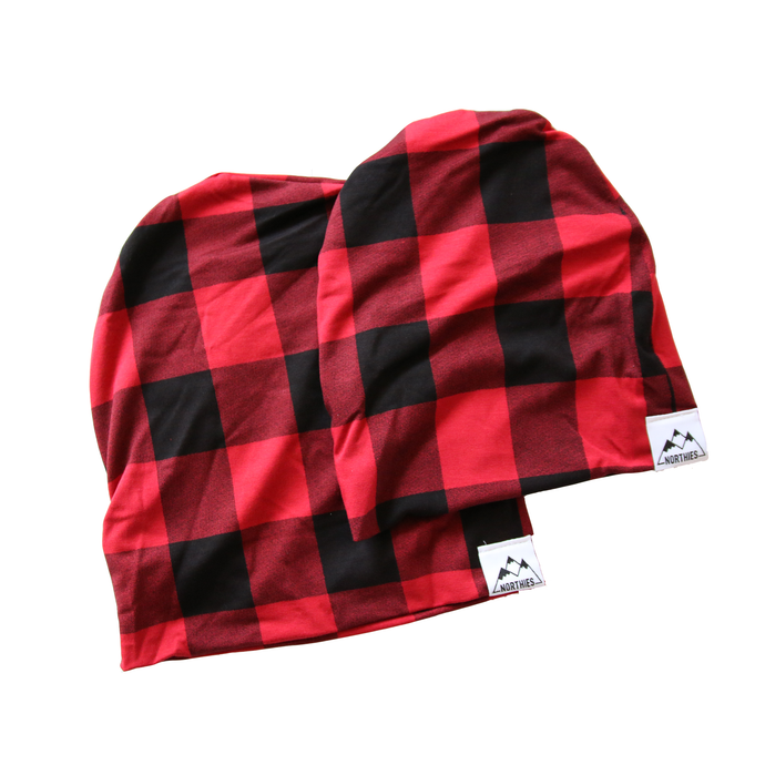 Plaid Bamboo Slouchy Beanies - *LIMITED*