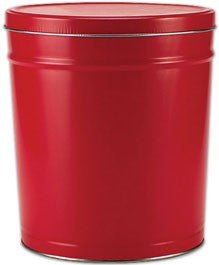 Solid Red Popcorn Tin - 3.5 Gallon