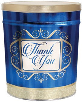 Golden Thank You Popcorn Tin - 3.5 Gallon