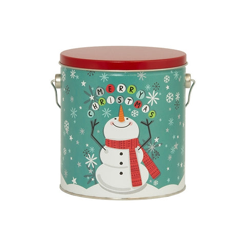 Merry Christmas Snowman Tin - 1 Gallon