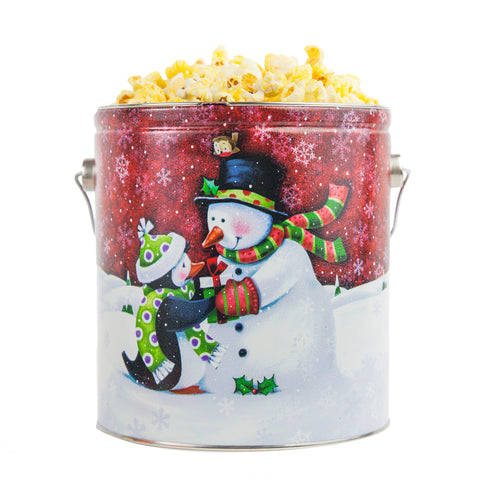 Snowman Holiday Tin - 1 Gallon