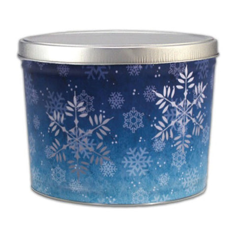 Snowflake Popcorn Tin - 2 Gallon