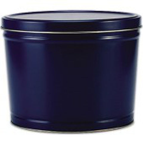 Solid Blue Popcorn Tin - 2 Gallon