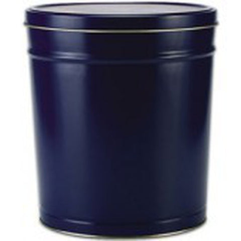 Solid Blue Popcorn Tin - 3.5 Gallon