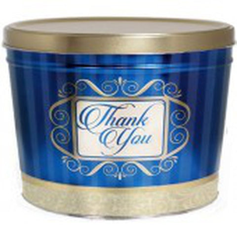 Golden Thank You Popcorn Tin - 2 Gallon