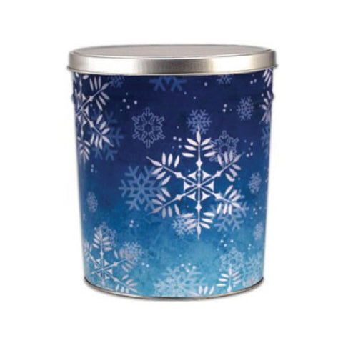 Snowflake Popcorn Tin - 3.5 Gallon