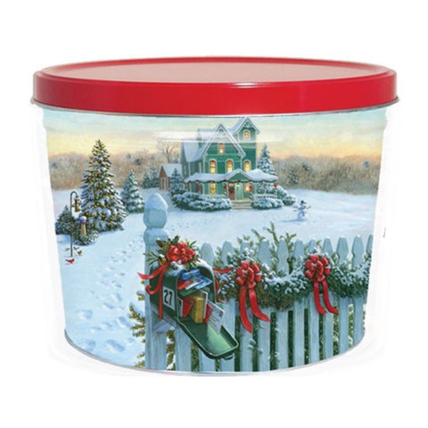 Christmas Mail Popcorn Tin - 2 Gallon