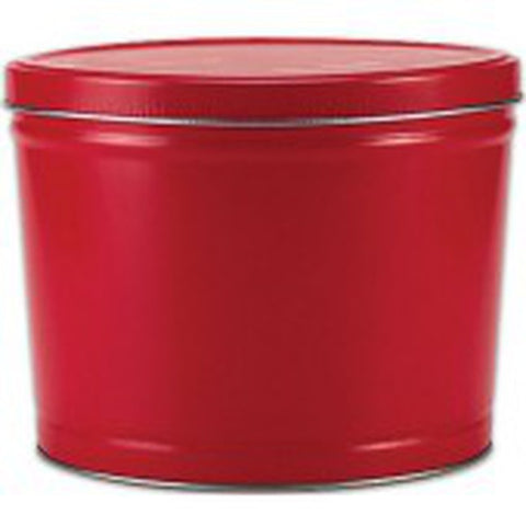 Solid Red Popcorn Tin - 2 Gallon