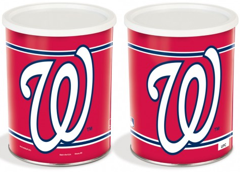 Washington Nationals Baseball Tin - 1 Gallon