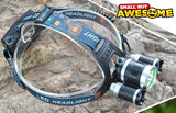 9000 Lumens Ultra Bright LED Rechargable Headlamp