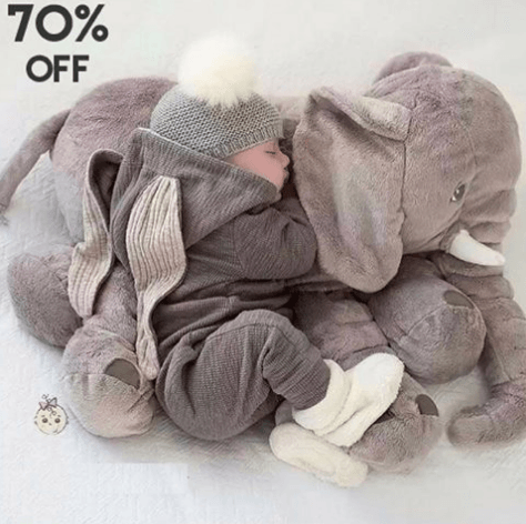 Cute Baby Elephant Pillow For Your Be Loved Baby With 70% OFF