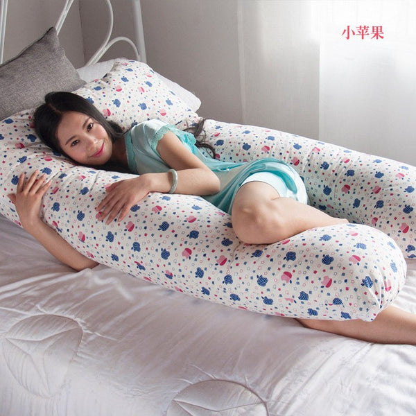 PillowTime Full Body U-Shape Body Pillow 100% Cotton - Large (145 x 80 x 25 cm)