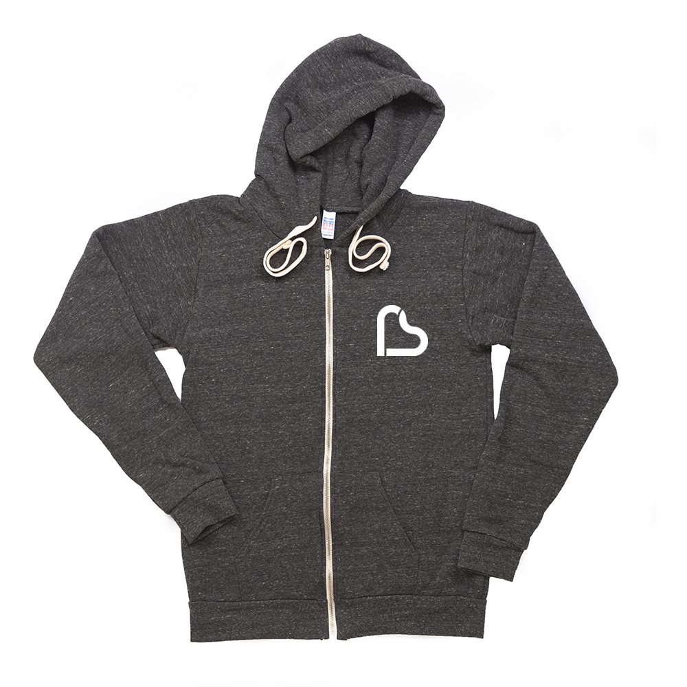 From The Heart Zip Hoody