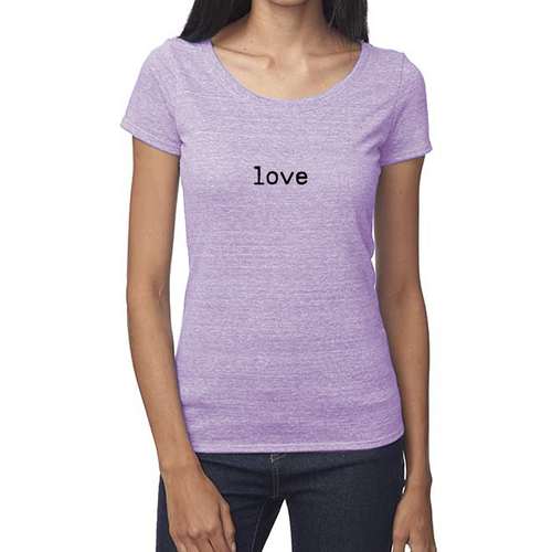Women's LOVE Tee (with bottom logo)