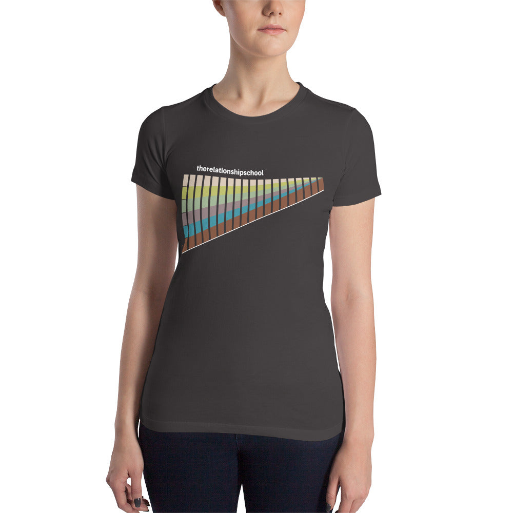 Women's RS Muted Rainbow Shirt in Asphalt