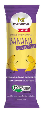 Barrinha de Banana e Aveia com Proteínas Orgânica - Made in Natural