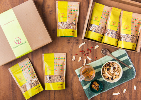 Box Granolas - 4 unidades - Made in Natural