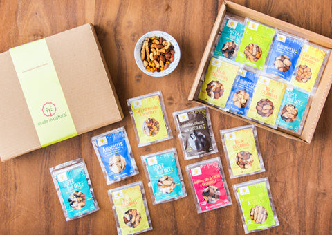 Box Nuts & Sementes - 20 snacks - Made in Natural