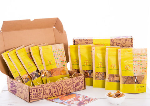 Box Surpresa - 10 snacks - Made in Natural