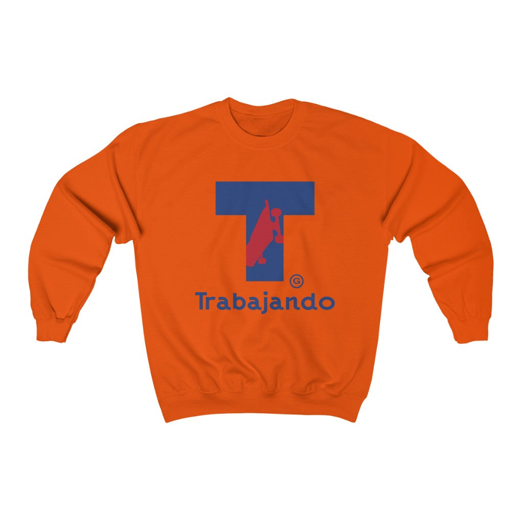 Traba T Logo Orange Crewneck Sweatshirt