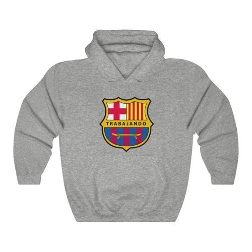 Trabajando OG Barcelona Hoodie Heather Grey
