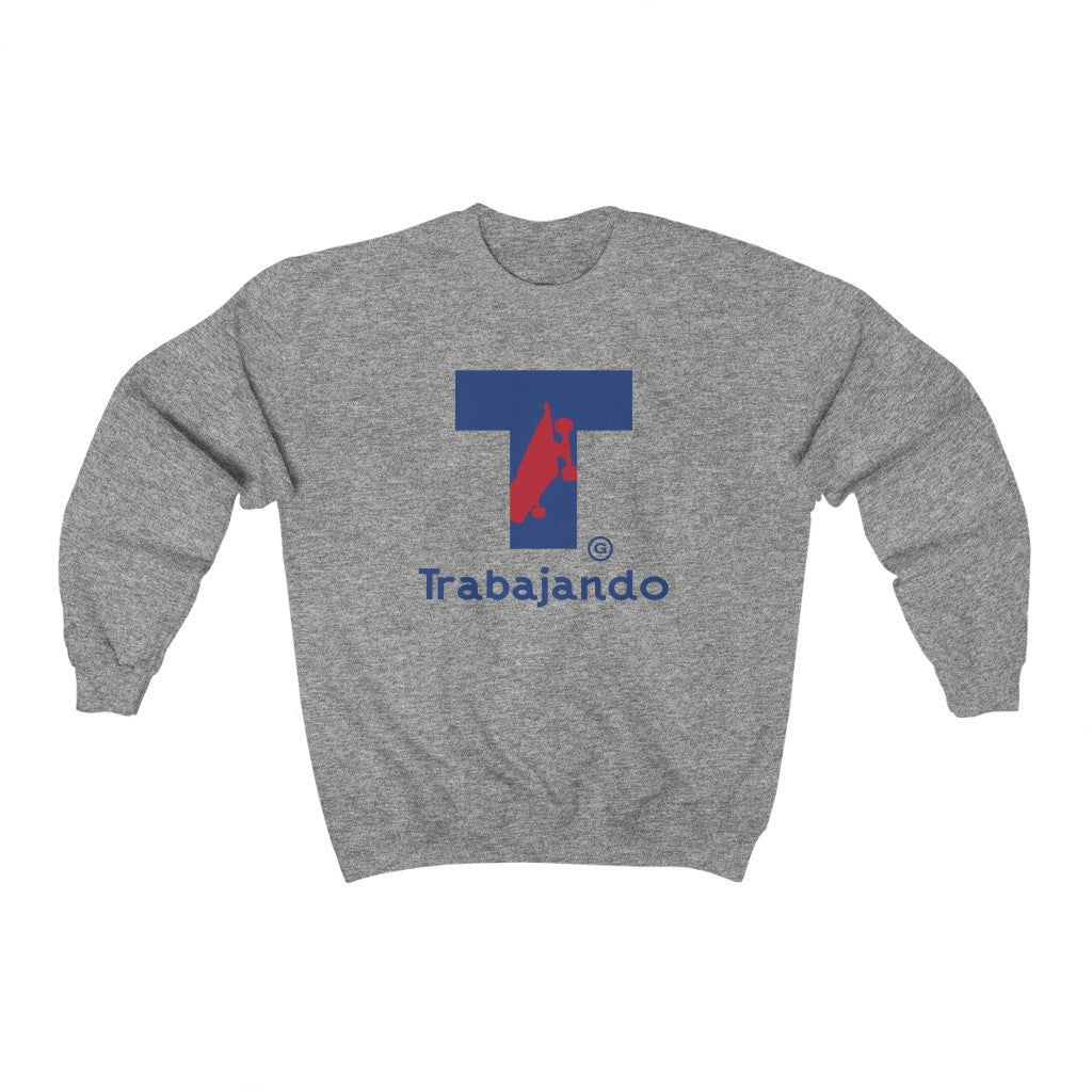 Traba T Logo Heather Grey Crewneck Sweatshirt